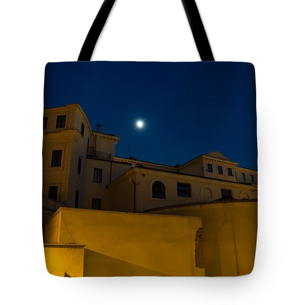 Magical Rome Italy - Yellow Facades And Moonlight Tote Bag