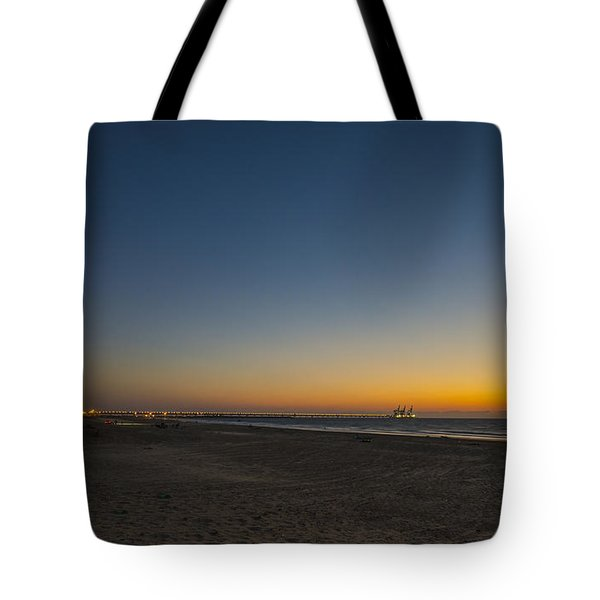 magical sunset moments at Caesarea  Tote Bag