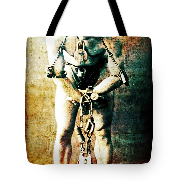 Magician Harry Houdini In Chains   Tote Bag by Jennifer Rondinelli Reilly - Fine Art Photography