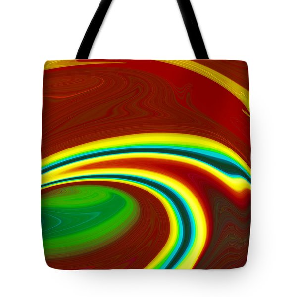 Tote Bag featuring the painting Magma  C2014 by Paul Ashby