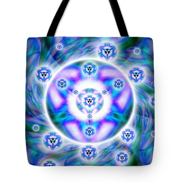 Tote Bag featuring the drawing Magnetic Fluid Harmony by Derek Gedney