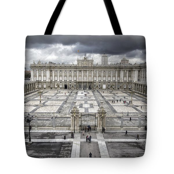Magnificent Palace View Tote Bag by Joan Carroll