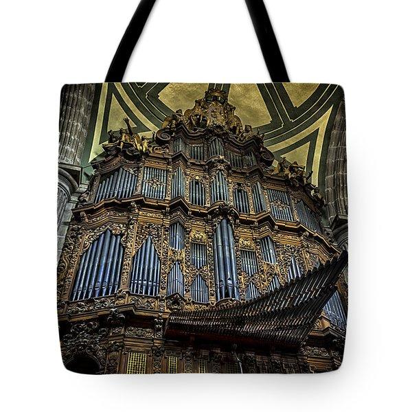 Magnificent Pipe Organ Tote Bag by Lynn Palmer