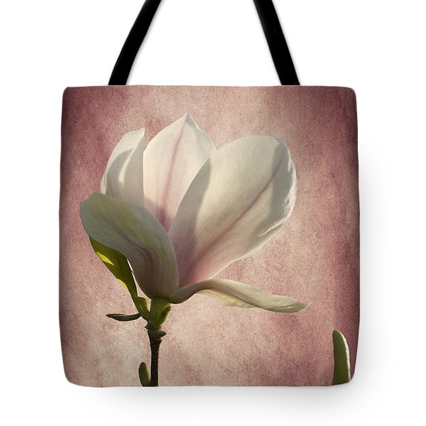Tote Bag featuring the photograph Magnolia by Ann Lauwers