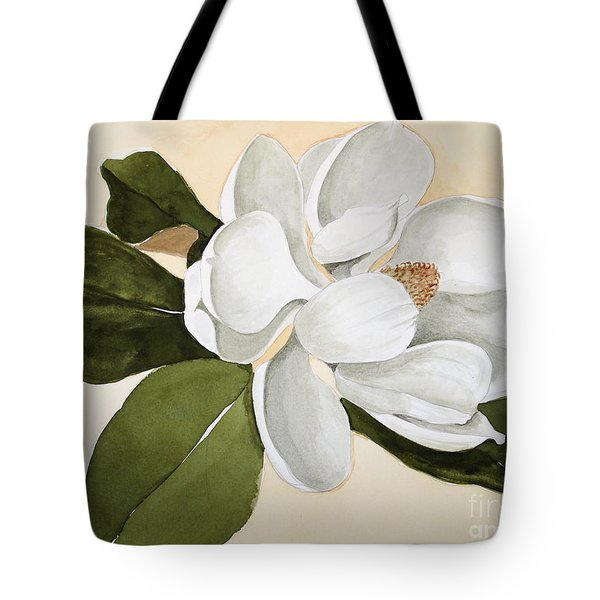 Tote Bag featuring the painting Magnolia Bloom by Nancy Kane Chapman