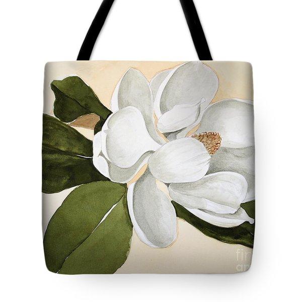 Magnolia Bloom Tote Bag by Nancy Kane Chapman