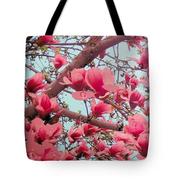 Magnolia Blossoms In Spring Tote Bag
