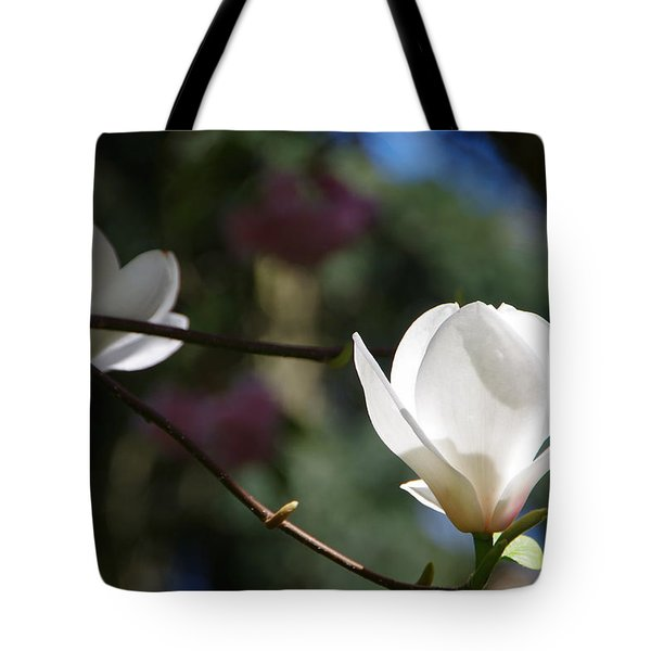Magnolia Blossoms Tote Bag