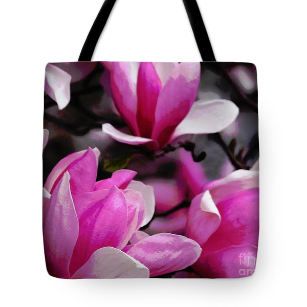 Tote Bag featuring the photograph Magnolia Blossoms by Olivia Hardwicke
