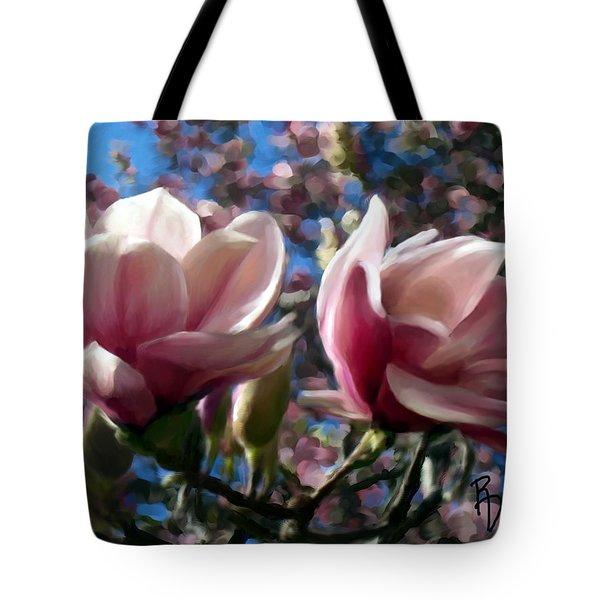 Magnolia Blossoms Tote Bag