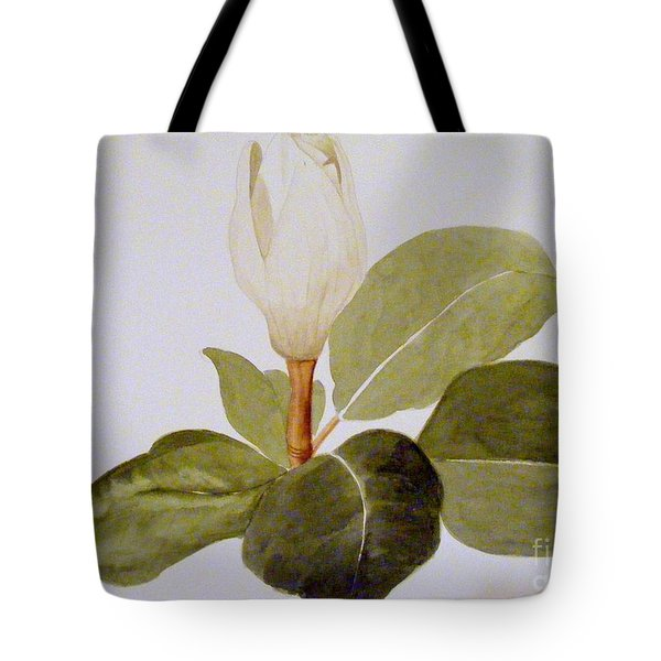Tote Bag featuring the painting Magnolia Bud II by Nancy Kane Chapman
