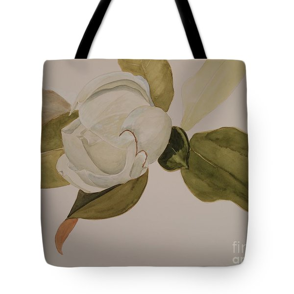 Tote Bag featuring the painting Magnolia California by Nancy Kane Chapman