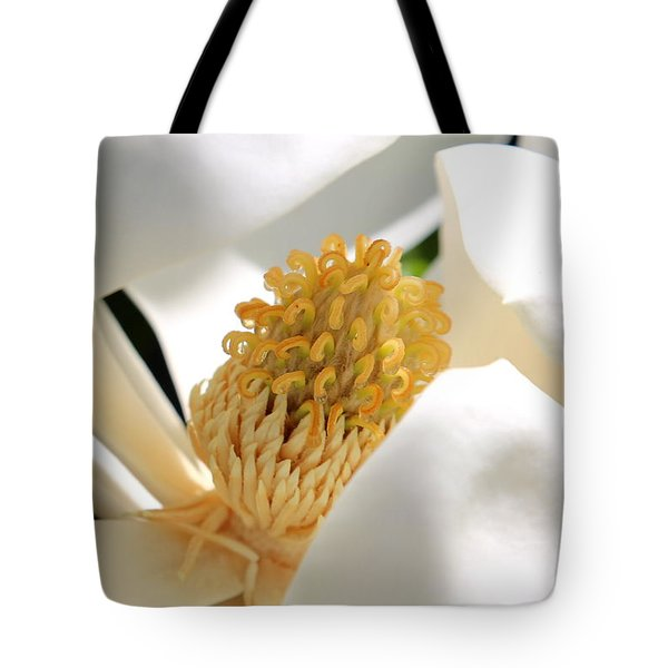 Magnolia Center Tote Bag by Carol Groenen