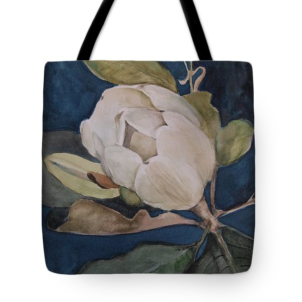 Tote Bag featuring the painting Magnolia Evening by Nancy Kane Chapman