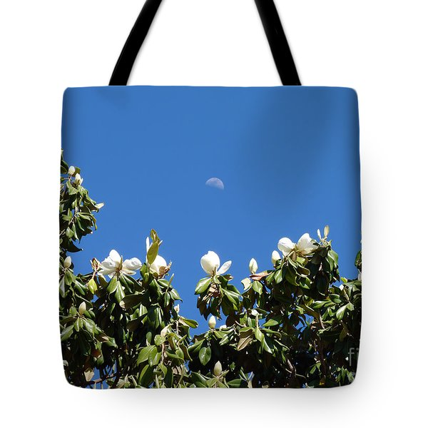 Tote Bag featuring the photograph Magnolia Moon by Meghan at FireBonnet Art