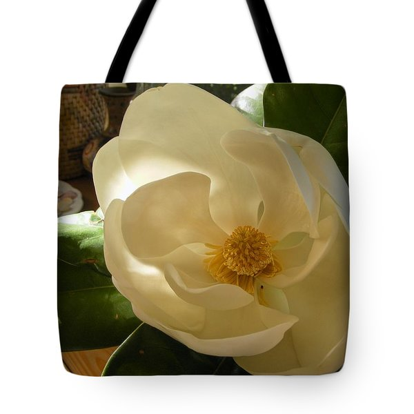 Tote Bag featuring the photograph Magnolia by Nancy Kane Chapman
