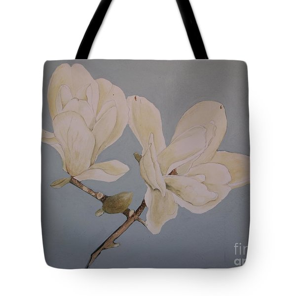 Tote Bag featuring the painting Magnolia Sun Ray by Nancy Kane Chapman