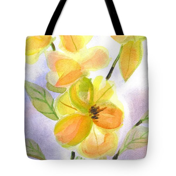 Tote Bag featuring the painting Magnolias Gentle by Kip DeVore