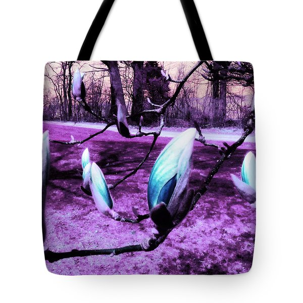 Magnolias In An Alien World Tote Bag by Shawna Rowe