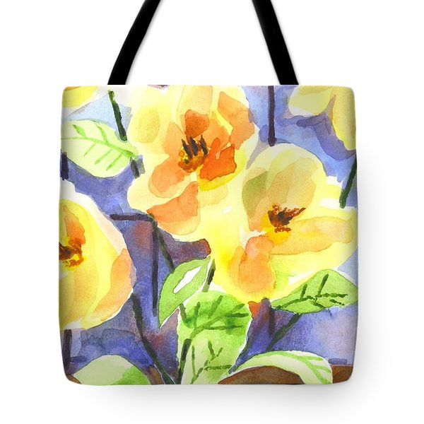 Tote Bag featuring the painting Magnolias by Kip DeVore