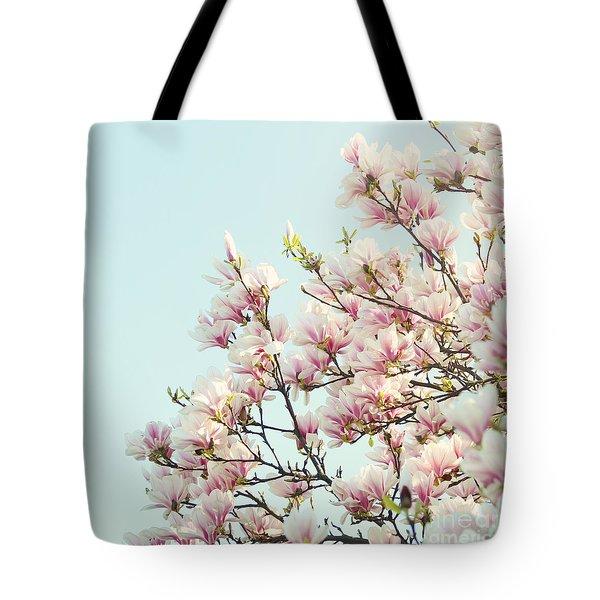 Magnolias Tote Bag by Sylvia Cook