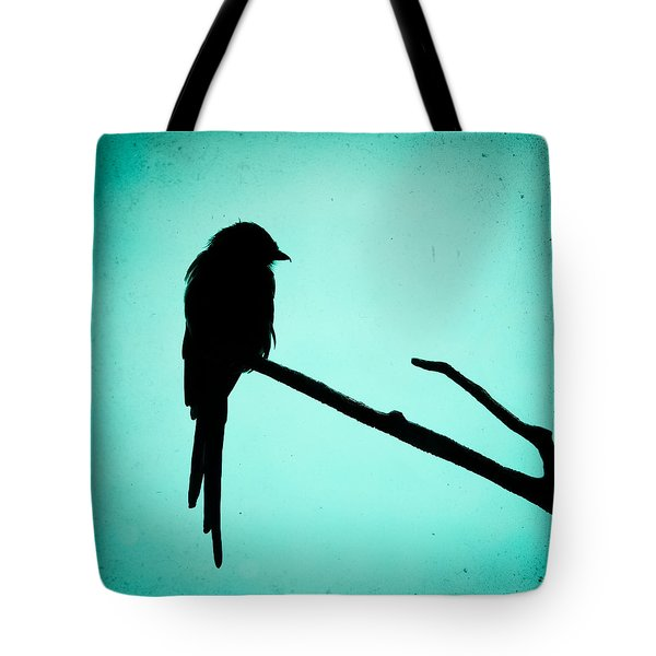 Magpie Shrike Silhouette Tote Bag by Gary Heller