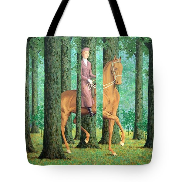 Magritte's The Blank Signature Tote Bag by Cora Wandel