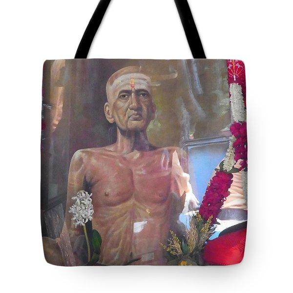 Maha Samadhi Day Tote Bag by Agnieszka Ledwon