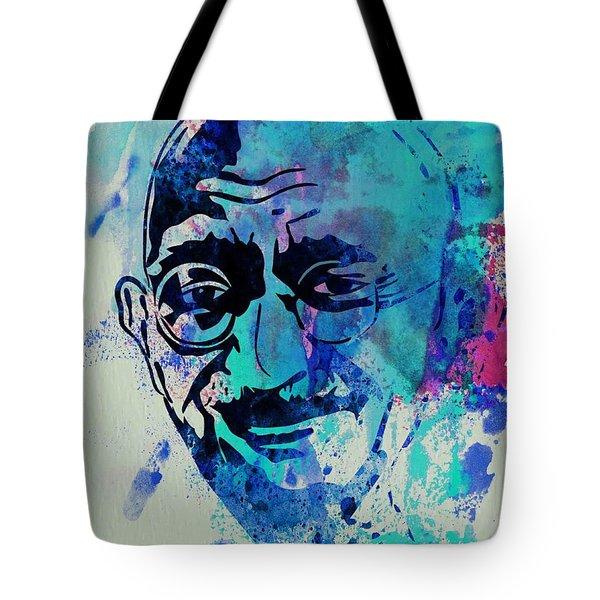 Mahatma Gandhi Watercolor Tote Bag
