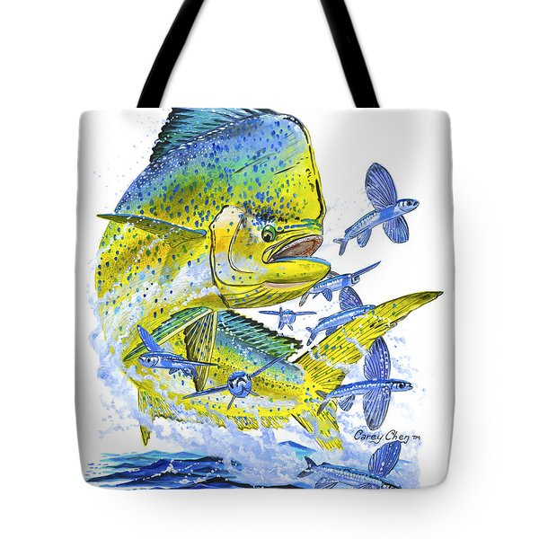 Mahi Mahi Tote Bag by Carey Chen
