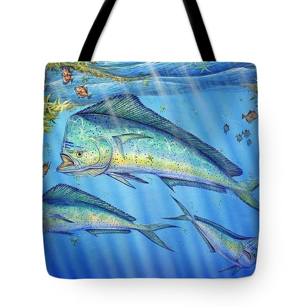 Mahi Mahi In Sargassum Tote Bag