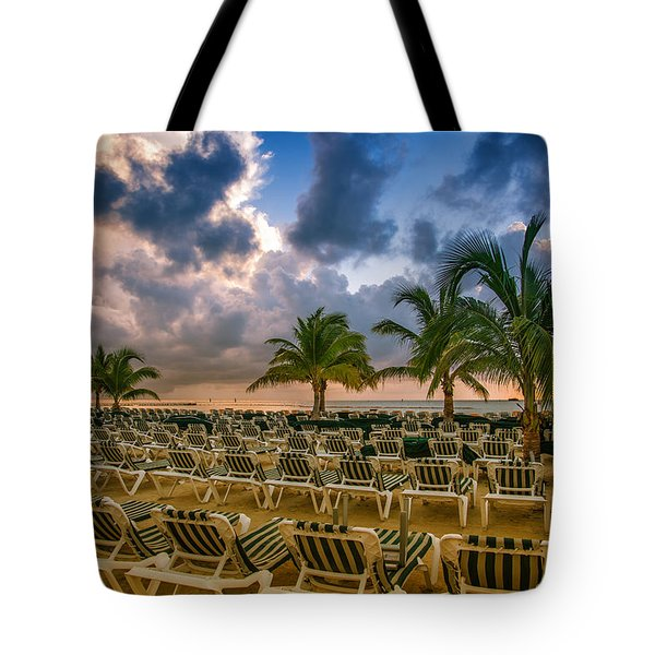 Mahogany Bay Beach-roatan-honduras Tote Bag