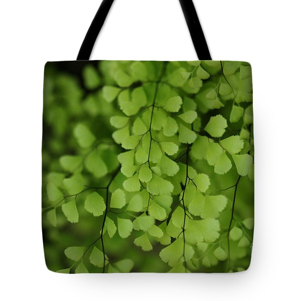Tote Bag featuring the photograph Maidenhair by Linda Shafer