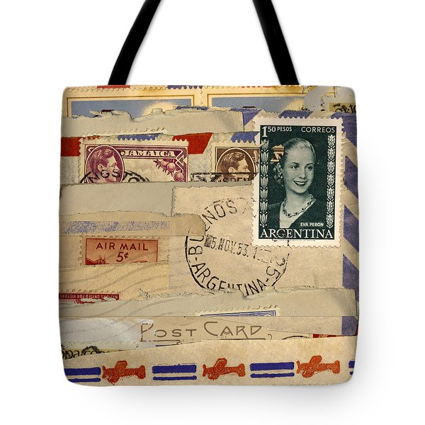 Mail Collage Eva Peron Tote Bag