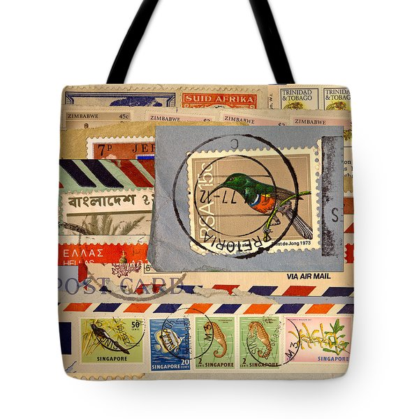 Mail Collage South Africa Tote Bag