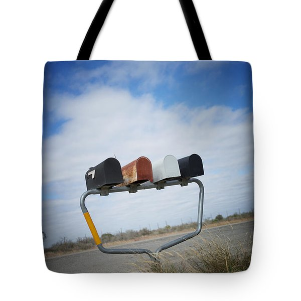 Tote Bag featuring the photograph Mailboxes by Erika Weber