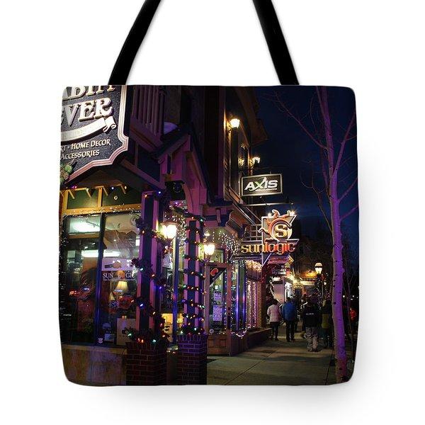 Main Street Breckenridge Colorado Tote Bag