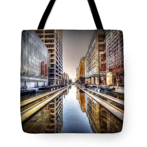Main Street Square Tote Bag