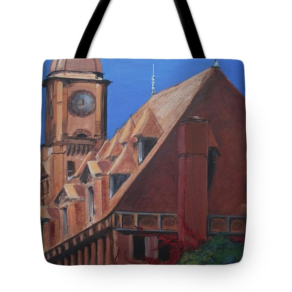 Tote Bag featuring the painting Main Street Station by Donna Tuten