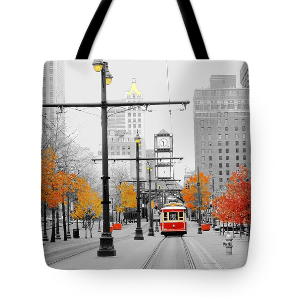 Main Street Trolley  Tote Bag