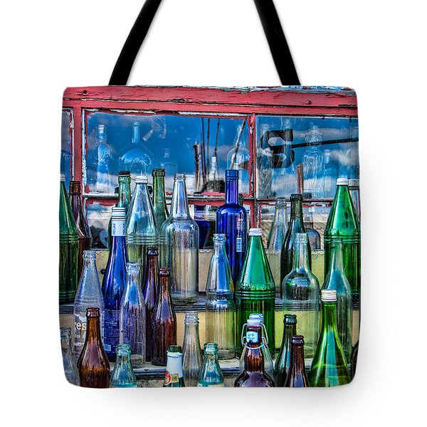 Maine Bottle Collector Tote Bag by Steven Bateson