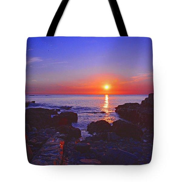 Maine Coast Sunrise Tote Bag