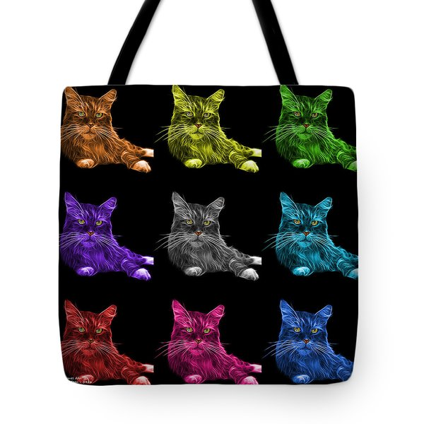 Maine Coon Cat - 3926 - Bb - M Tote Bag