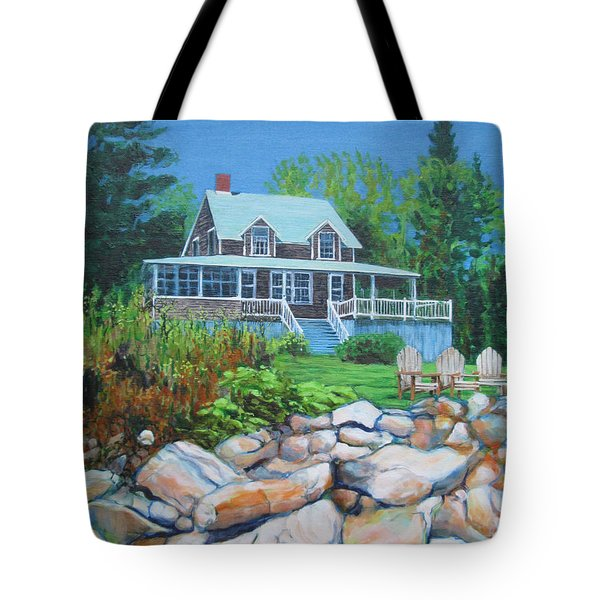 Maine Cottage Tote Bag