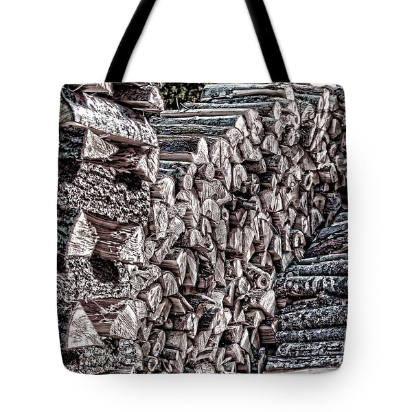 Maine Firewood Tote Bag