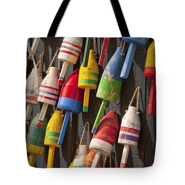 Maine Fishing Buoys Tote Bag