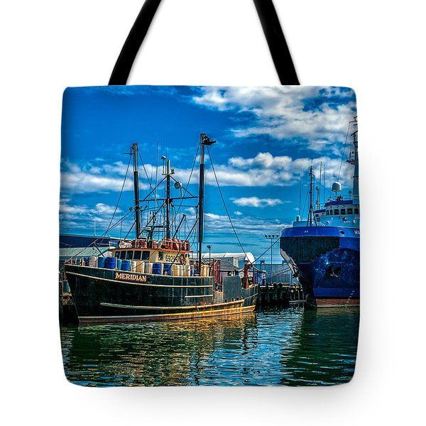 Maine Responder And Meridian Portland Me Tote Bag by Bob Orsillo