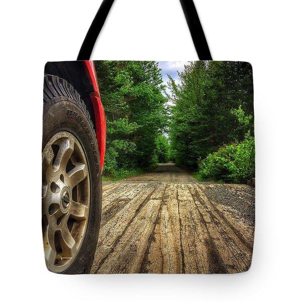 Maine Roads Tote Bag
