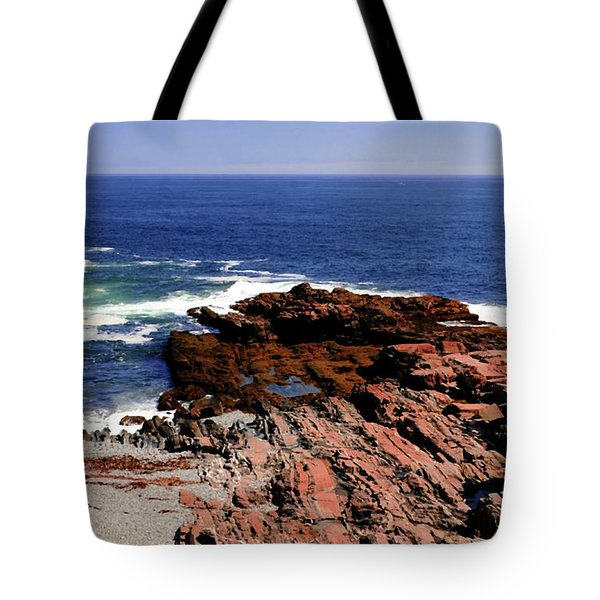 Maine Seascape Tote Bag by Kathleen Struckle