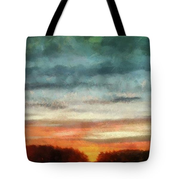Maine Sunset Tote Bag by RC deWinter